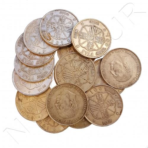 100 pesetas ESPAÑA variadas - INVERSION PLATA