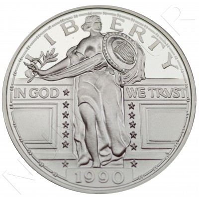 2 oz USA 1990 - Libery Plata .999