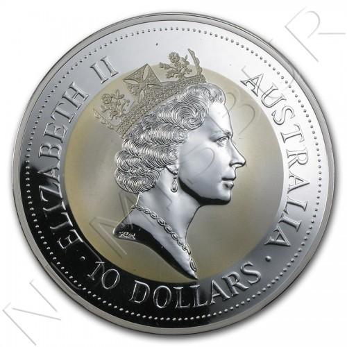 10$ AUSTRALIA 1993 - Kookaburra (10 OZ)