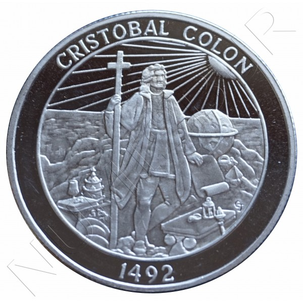 2 oz PLATA PURA - Cristobal Colon