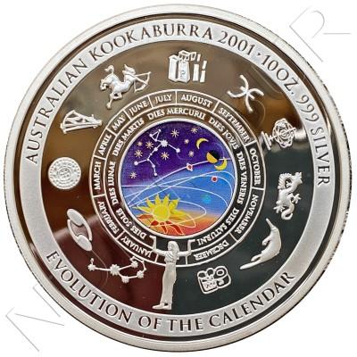 10$ AUSTRALIA 2001 - KOOKABURRA CALENDAR 10 OZ