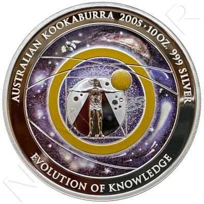 10$ AUSTRALIA 2005 - KOOKABURRA Evolution of KNOWLEDGE  10 OZ