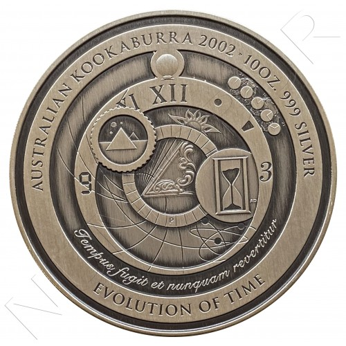10$ AUSTRALIA 2002 - KOOKABURRA EVOLUTION TIME 10 OZ
