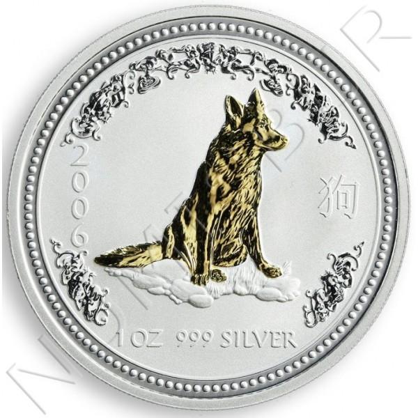 1$ AUSTRALIA 2006 - Year of DOG Calendar lunar II (GILDED)