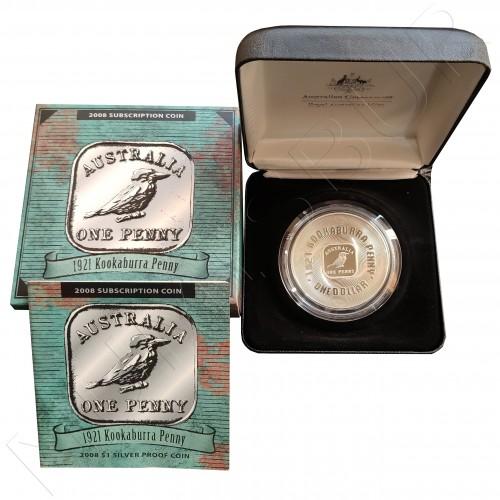 1$ AUSTRALIA 2008  - 1921 Kookaburra Penny