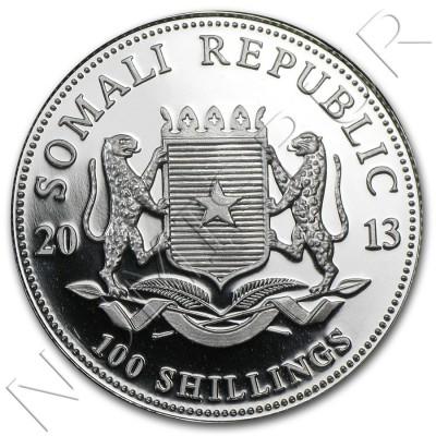 100 Shillings SOMALIA 2013 - Elefante