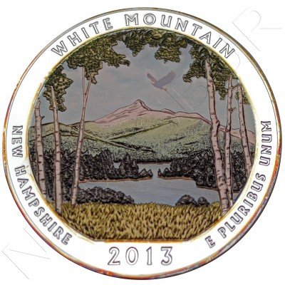 "5 oz USA 2013 - White Mountain ""New Hampshire"""