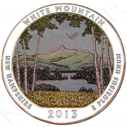 """5 oz USA 2013 - White Mountain """"New Hampshire"""""""