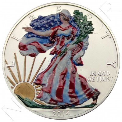 1$ USA 2014 - American Eagle (COLOURED)