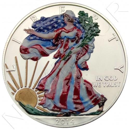 1$ USA 2014 - American Eagle (COLOURED)