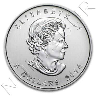 5$ CANADA 2014 - Aguila calva