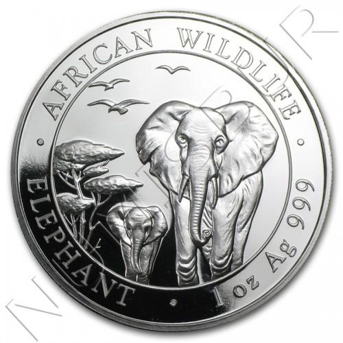 100 Shillings SOMALIA 2015 - Elefante