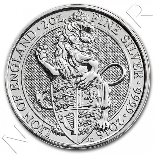 5£ REINO UNIDO 2016 - Queen's Beasts The Lion 2 oz
