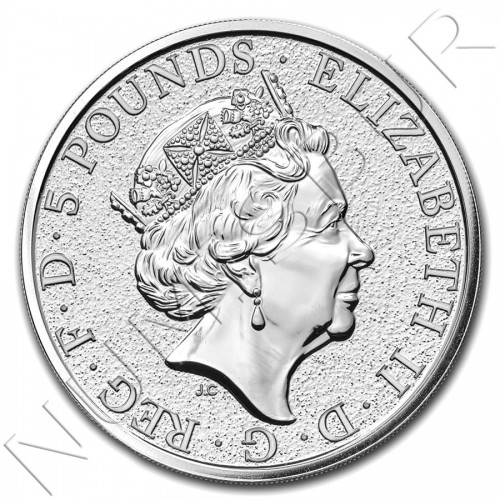 5£ REINO UNIDO 2016 - Queen's Beasts The Griffin 2 oz