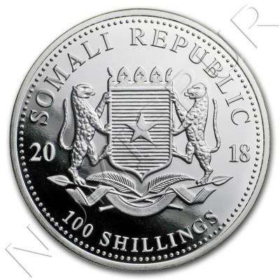 100 Shillings SOMALIA 2018 - Elefante