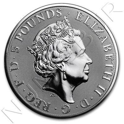 5£ UNITED KINGDOM 2018- Queen's Beasts The Bull 2 oz