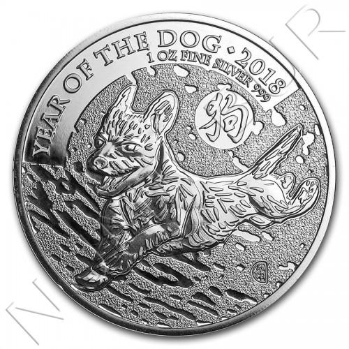 2£ GRAN BRETAÑA 2018 - Año del perro