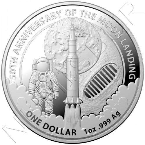 1$ AUSTRALIA 2019 - 50 anniv. of moon landing