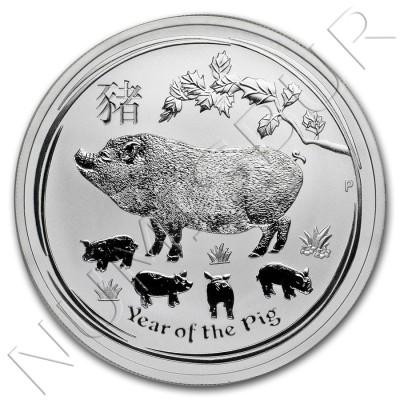 1$ AUSTRALIA 2019 - Año del Cerdo Calendario lunar II