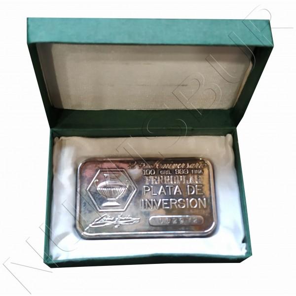 Ingot pure silver 100 grams - FERROPLAS