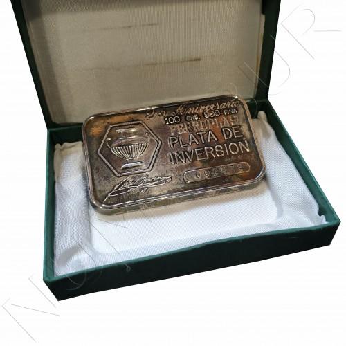 Lingote 100 gramos plata pura - Ferroplas