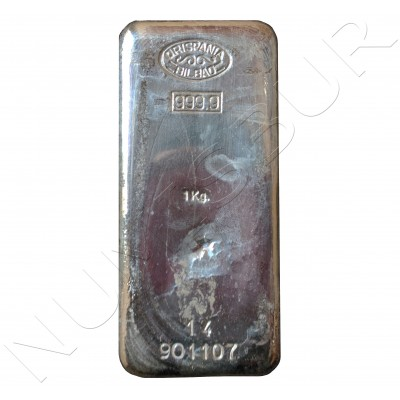 Ingot pure silver 1KG - HISPANIA BILBAO