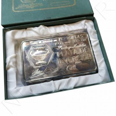 Ingot pure silver 1KG - FERROPLAS