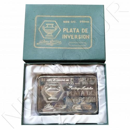 Lingote 1KG plata pura - Ferroplas