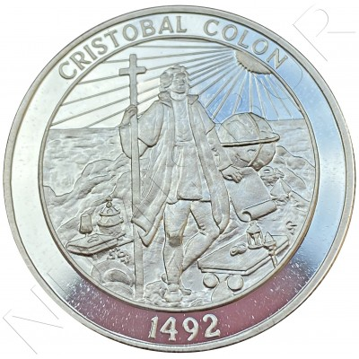 CRISTOBAL COLON 1492 - 2 oz silver .999