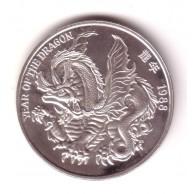 CHINA 1 onza plata pura 1988 año del Dragon